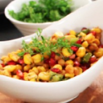Corn and Pomegranate Chaat