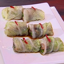 Crackling Duck And Lettuce Rolls Recipe By Sunil Chauhan