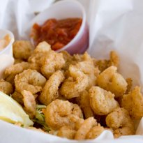 Crispy wispy shrimp recipe by vicky ratnani ndtv food marinated shrimp is fried in a batter of flour and club soda forumfinder Image collections