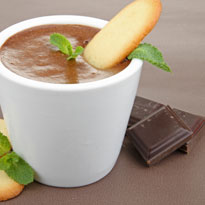 Dark Chocolate Mousse with Amarula Creme