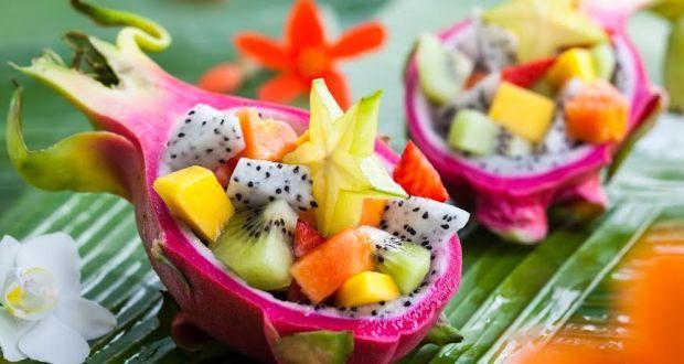 Oriental Dragon Fruit Salad