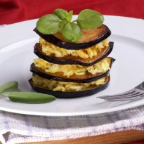Eggplant and Spicy Rice with Nuts