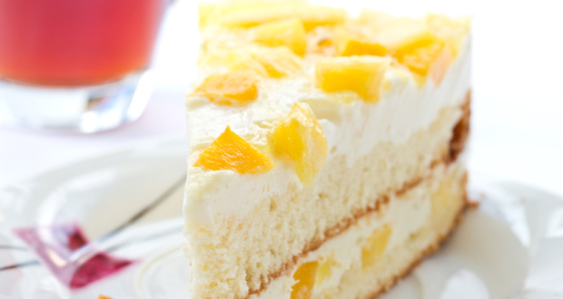 Fresh Cream Eggless Pineapple Cake Recipe