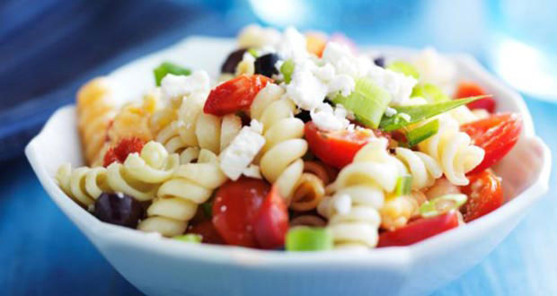 Recipe of Fusilli, Black Olive and Feta Pasta Salad