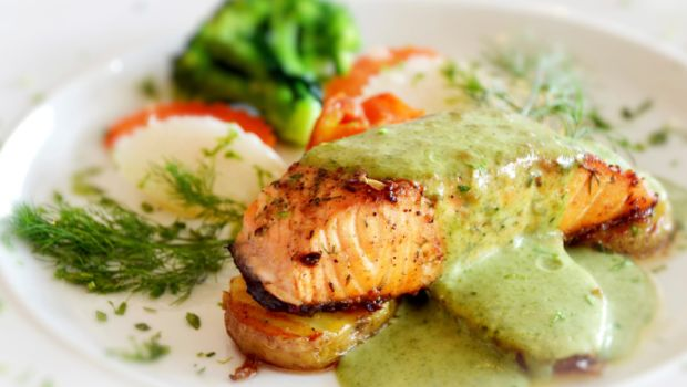 Steamed Fish with Green Chutney