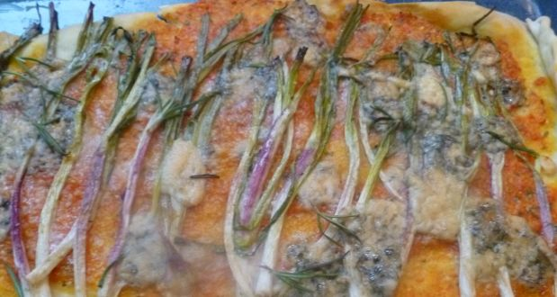 Recipe of Flatbread with Spring Onions