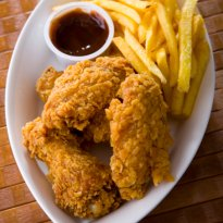 Crumb-Fried Chicken