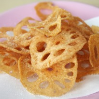 Fried Lotus Stems with Chutney