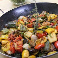 Recipe of Himalyan Red Rice and Provencal Vegetable Ragu