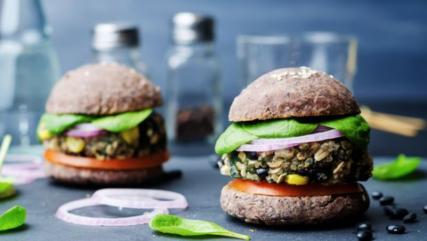 Recipe of Black Bean Burger with Hung Curd Spread