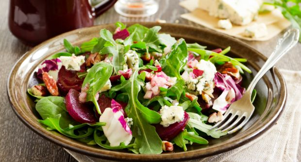 Roast Beet, Feta and Cucumber Salad