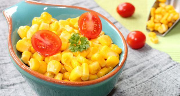 Sweet Corn Chaat with Peanuts