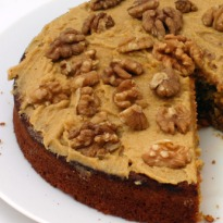Walnut Cake with Icing