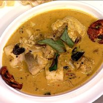 Meen Curry with Ghee Bhaat