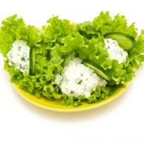 Lettuce Wrapped Cottage Cheese  Recipe