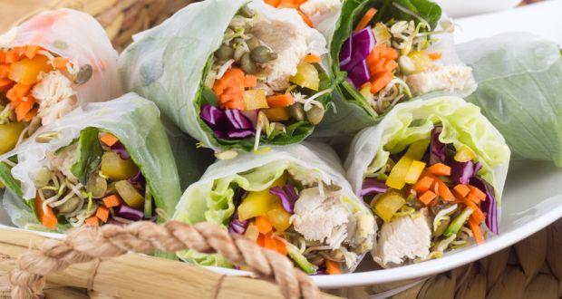 Spicy Chicken Lettuce Wrap