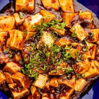 Recipe of Mapo Tofu with Spring Onion and Black Beans