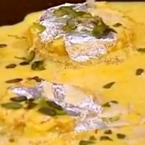 Shahi Tukda with Pineapple