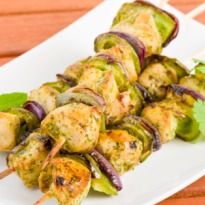 Coriander-Cheese Chicken Kebabs