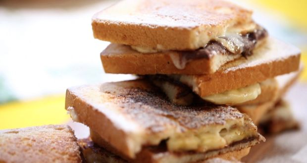 Recipe of Mascarpone Choco Hazelnut Sandwich (My Yellow Table)