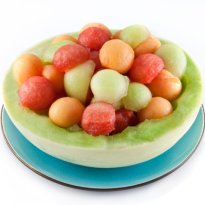 Melon Balls with Rocket and Radish