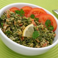 Middle Eastern Tabbouleh Salad with Red Quinoa