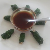 Minced Chicken Rolls Wrapped in Spinach Leaves