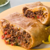 Burritos with Minced Meat Filling