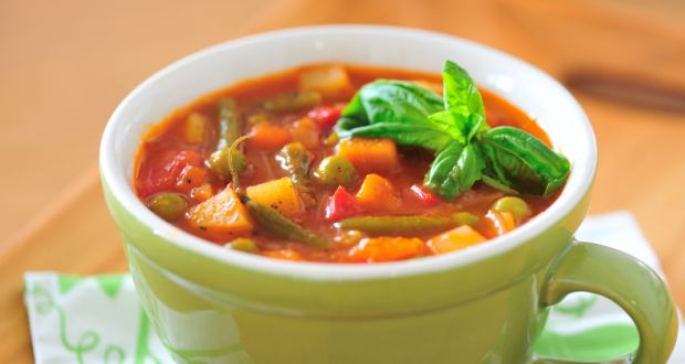 Recipe of Indian Style Minestrone Soup (My Yellow Table)