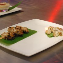 Murgh Malai Tikka with Tandoori Mushroom and Truffle Cream