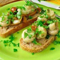 Mushroom Bread with a Mushroom Ragout