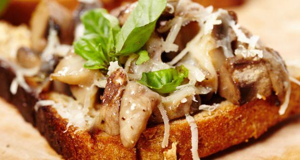 Mushroom Masala Toast