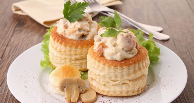 Mushroom Vol Au Vents Recipe Ndtv Food