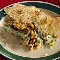 Spicy Omelette with Papad and Cashews