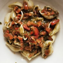 Nigel Slater's conchiglie with tomato and basil recipe