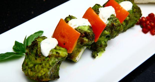 Pesto Fish Kebabs