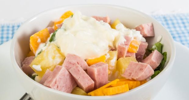 Pineapple, Cheese and Ham Salad