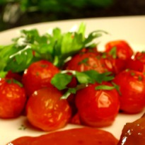 Olive Oil Poached Baby Tomatoes