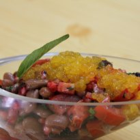 Recipe of Pomegranate and Mulberry Salad with Mango Caviar