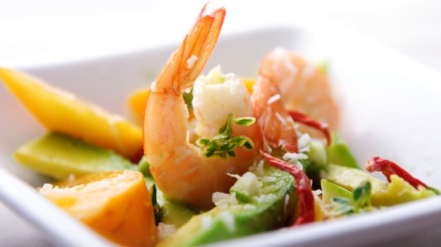 Recipe of Prawn and Litchi Salad