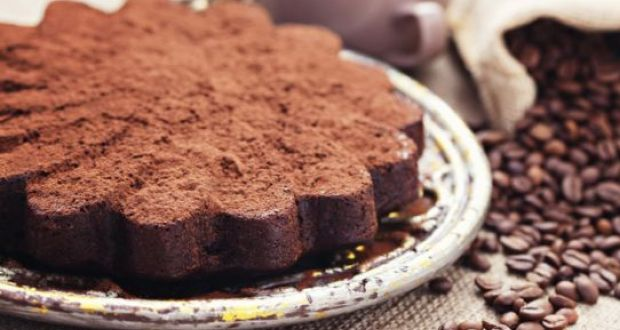 Ragi Coffee Cake with Kahlua Chocolate Ganache