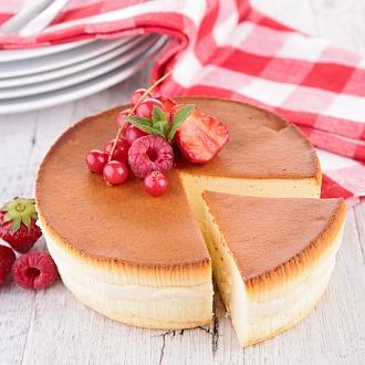 Cherry, Litchi and Rambutan Cheesecake