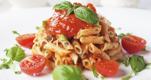 Red sauce pasta recipe how to make italian tomato red sauce pasta pasta served with a simple slow cooked tomato sauce in the authentic italian way forumfinder Images