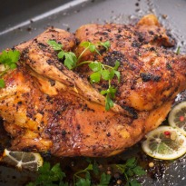 Roast Chicken with Apricot & Mint Stuffing