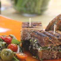 Recipe of Roasted Broccoli and Blue Cheese Panini