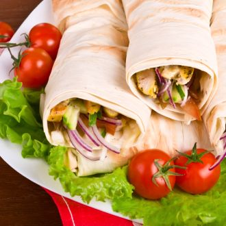 Recipe of Curried Hummus with Avocado Rolls