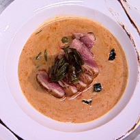 Seared Duck, Thai Red Curry & Crispy Basil