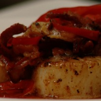 Seared Scallops with Garlic Chilly Bacon Recipe
