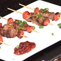 Skewered Pork in Lemon Grass