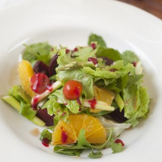 Recipe of Smoked Beetroot and Tangerine with Asparagus Salad